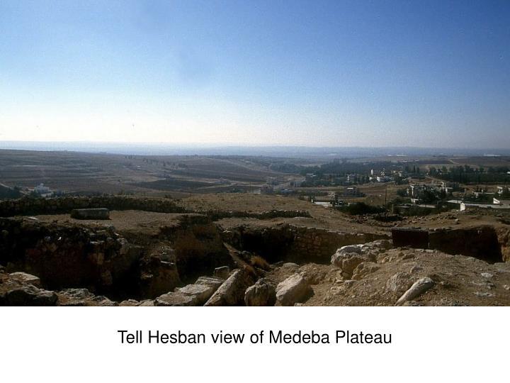 Tell Hesban view of Medeba Plateau