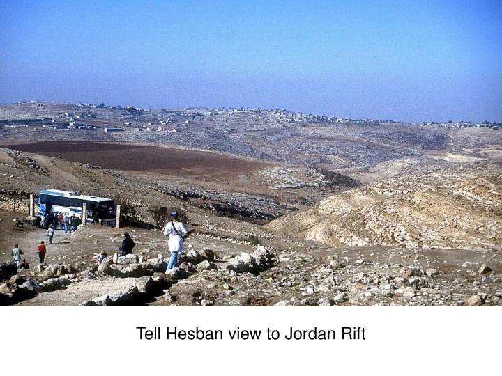Tell Hesban view to Jordan Rift