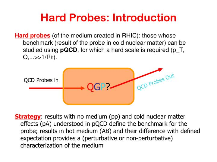 Hard Probes: Introduction