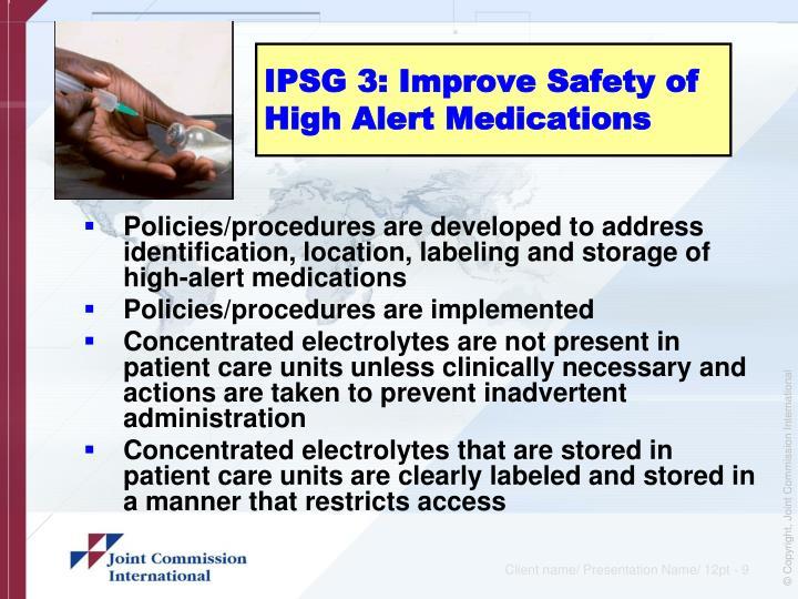 international patient safety goals pdf