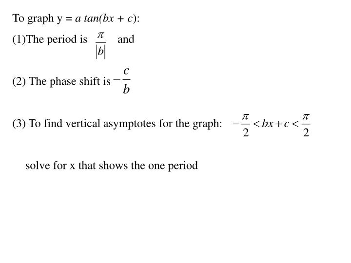 To graph y =