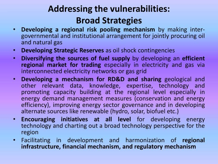 Addressing the vulnerabilities: