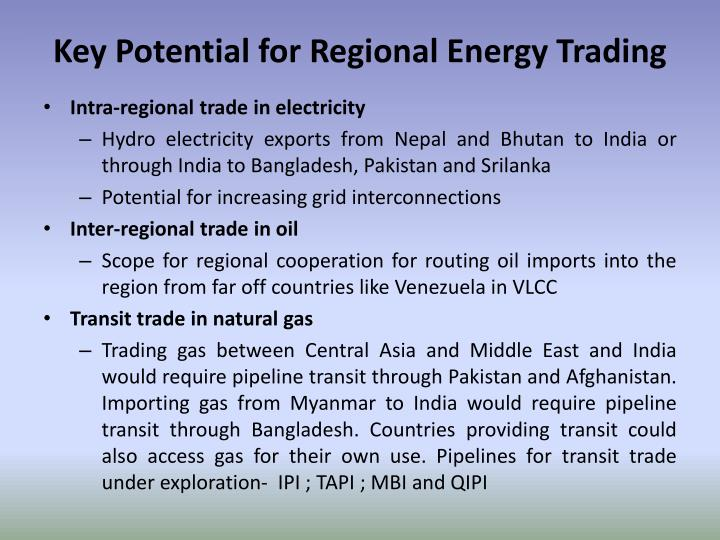 Key Potential for Regional Energy Trading