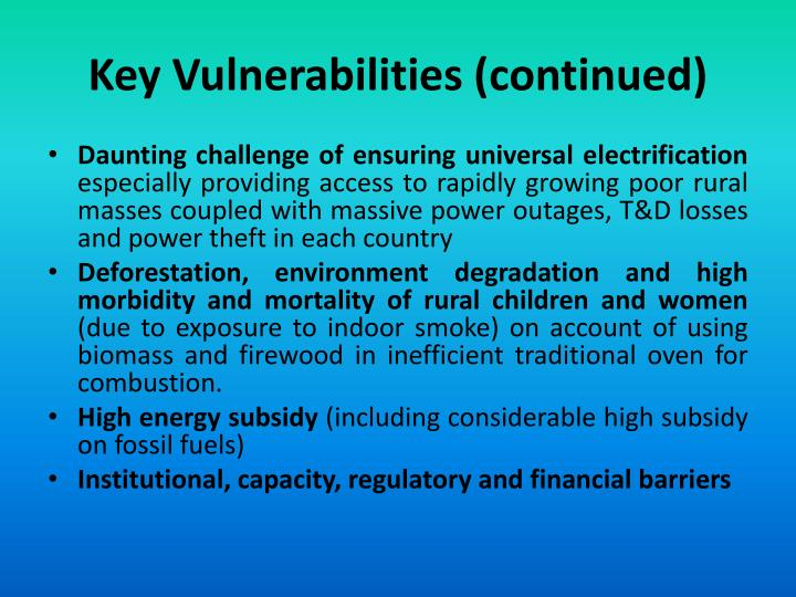 Key Vulnerabilities (continued)