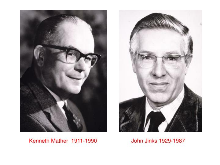 Kenneth Mather  1911-1990