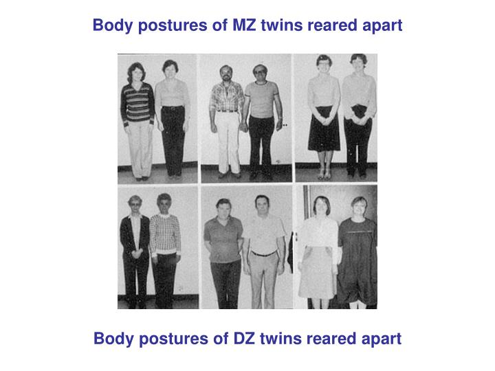 Body postures of MZ twins reared apart