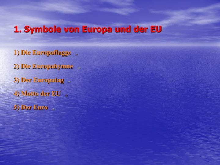 1. Symbole von Europa und der EU