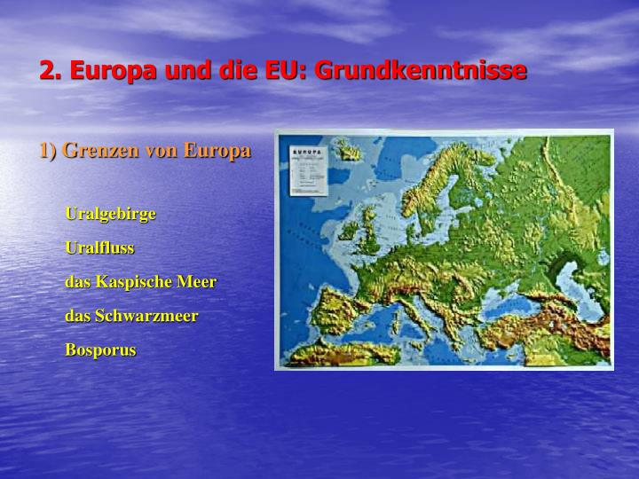 2. Europa und die EU: Grundkenntnisse
