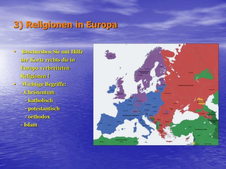 3) Religionen in Europa