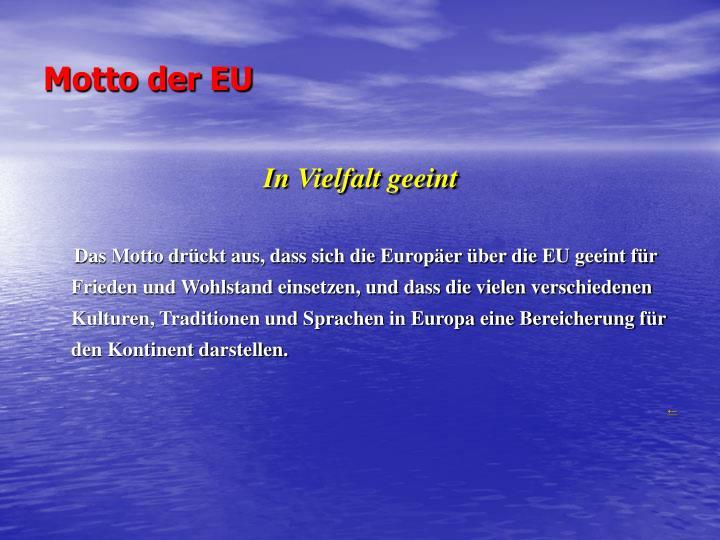 Motto der EU