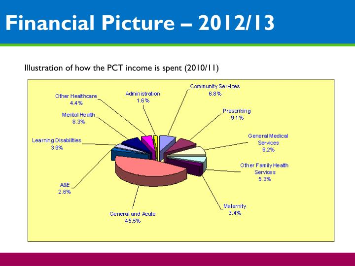 Financial Picture – 2012/13