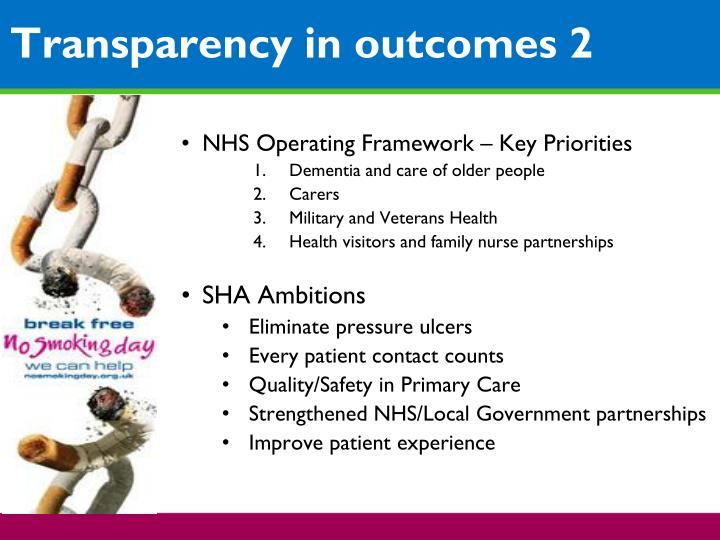 NHS Operating Framework – Key Priorities