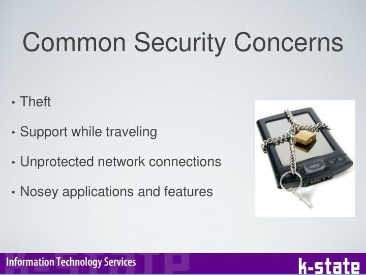 Common Security Concerns
