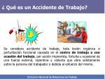 qu es un accidente de trabajo