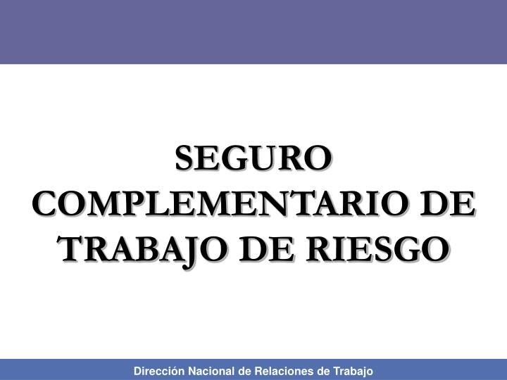 SEGURO COMPLEMENTARIO DE TRABAJO DE RIESGO