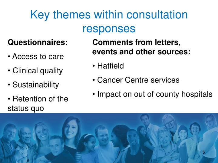 Key themes within consultation responses