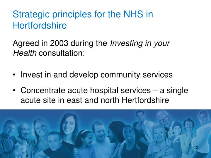 Strategic principles for the NHS in Hertfordshire