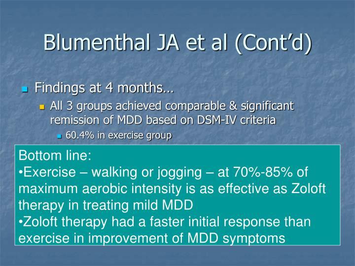 Blumenthal JA et al (Cont'd)