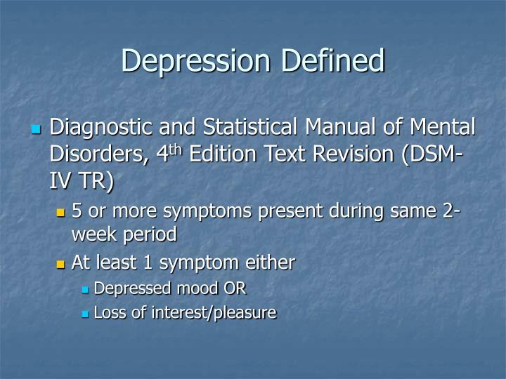 Depression Defined