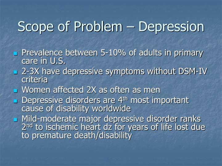 Scope of Problem – Depression