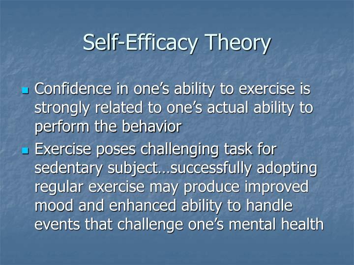 Self-Efficacy Theory