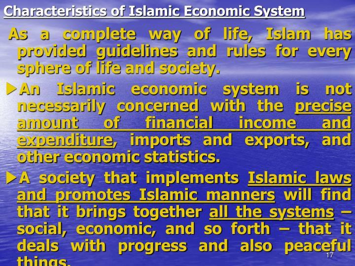 Characteristics of Islamic Economic System
