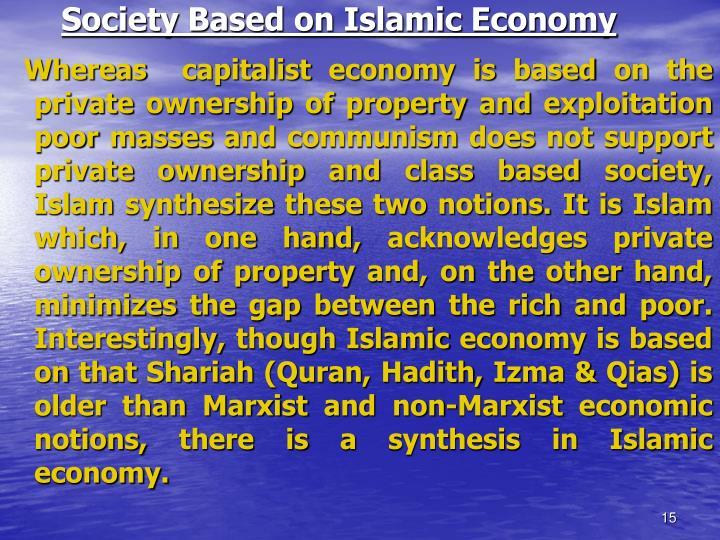 Society Based on Islamic Economy
