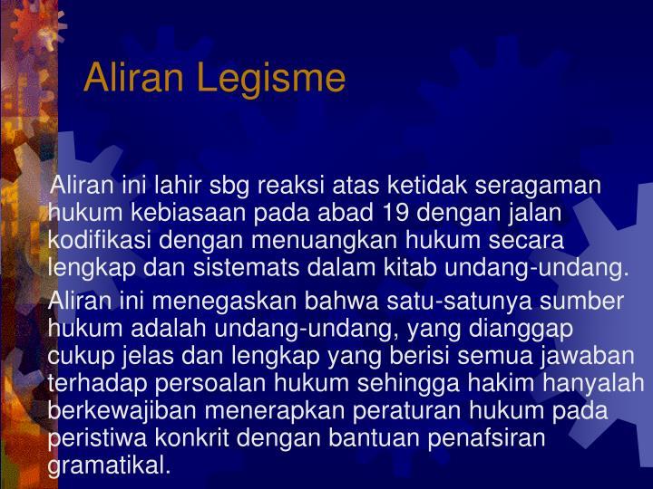 Aliran Legisme