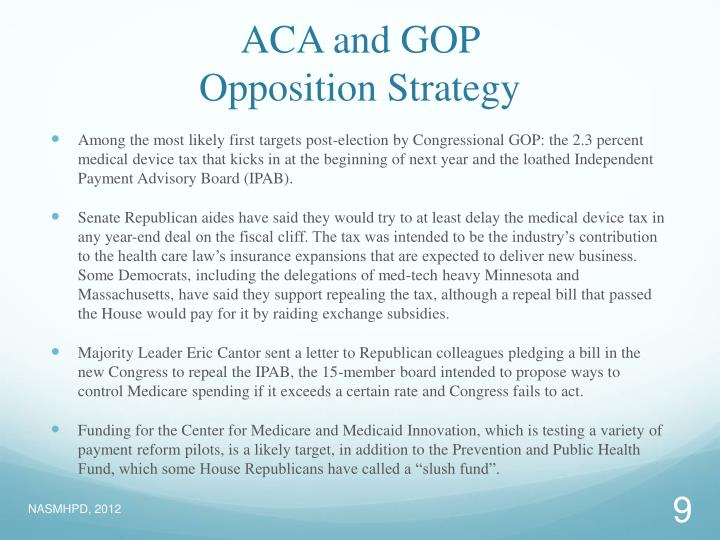 ACA and GOP