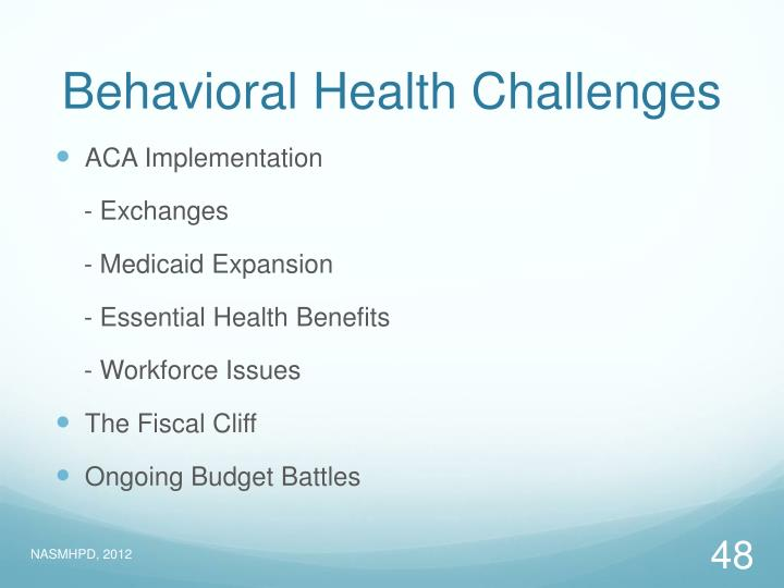 Behavioral Health Challenges