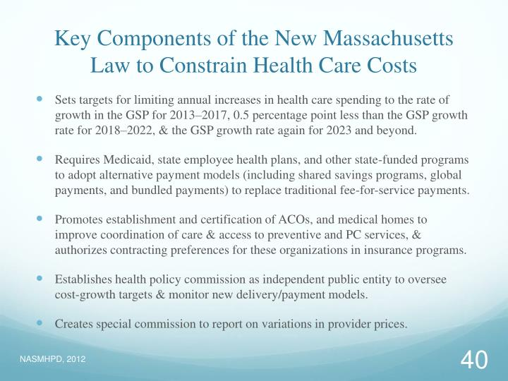 Key Components of the New Massachusetts Law to Constrain Health Care Costs