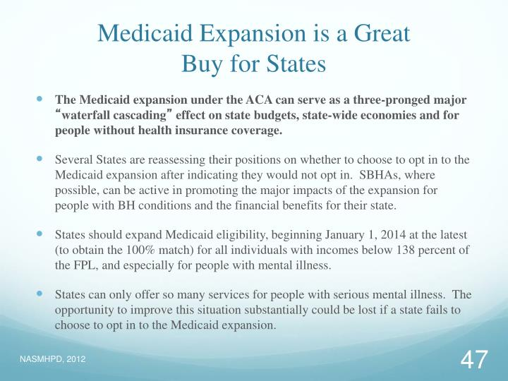 Medicaid Expansion is a Great
