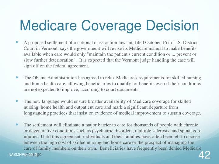 Medicare Coverage Decision