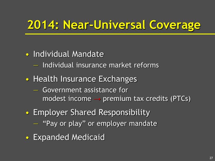 2014: Near-Universal Coverage