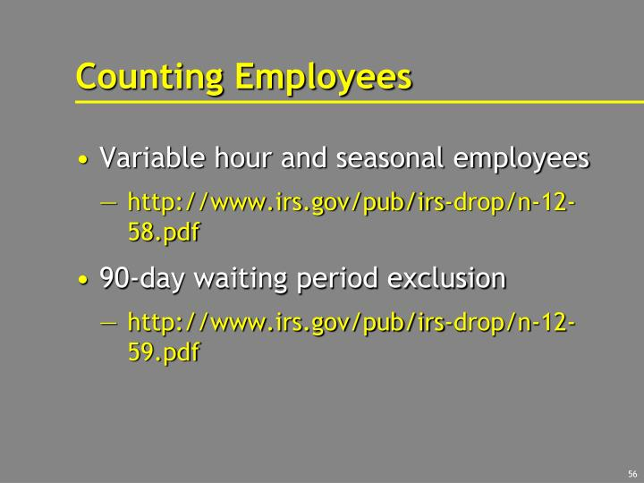 Counting Employees