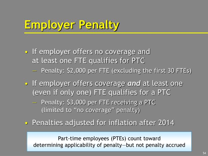 Employer Penalty