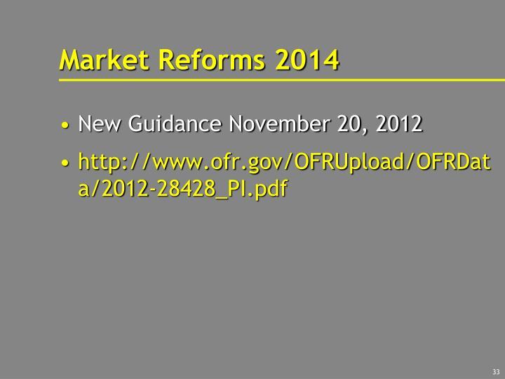 Market Reforms 2014