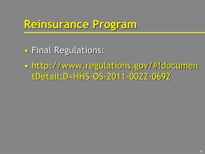 Reinsurance Program