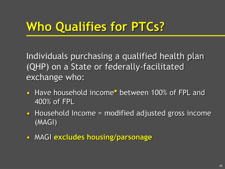 Who Qualifies for PTCs?