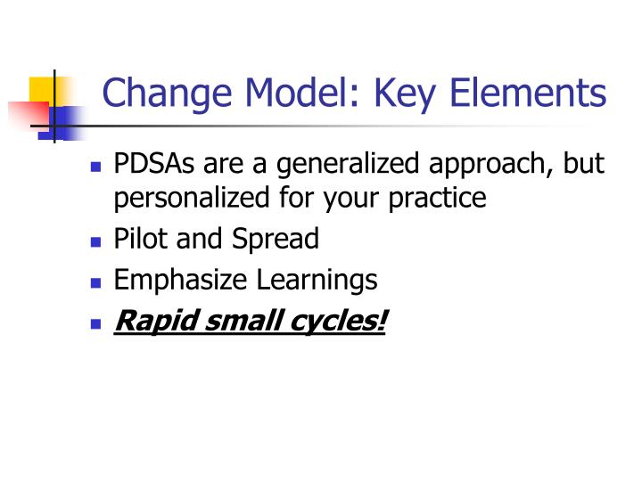Change Model: Key Elements