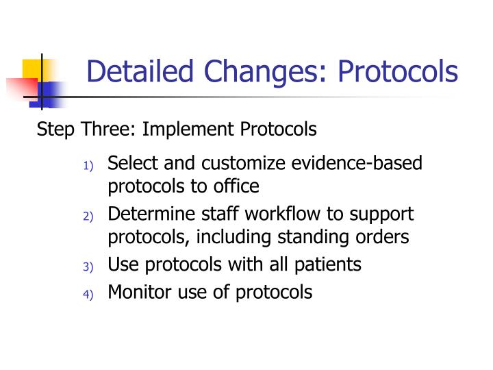 Detailed Changes: Protocols