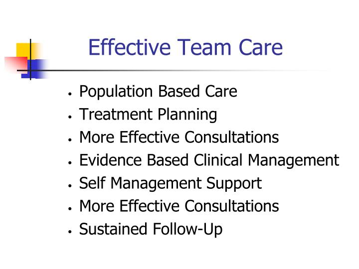 Effective Team Care