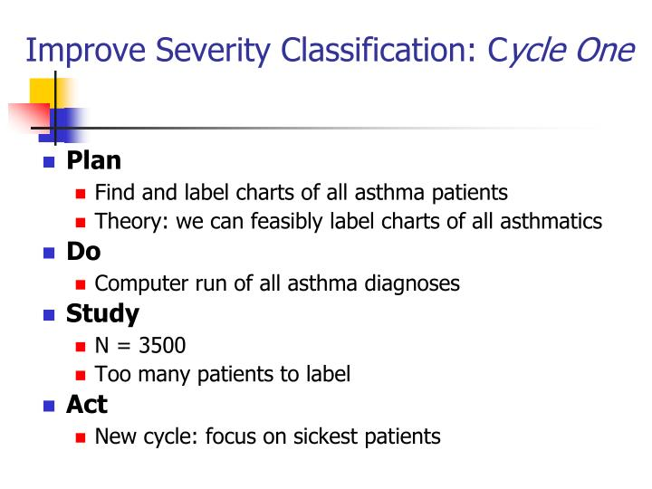 Improve Severity Classification: C