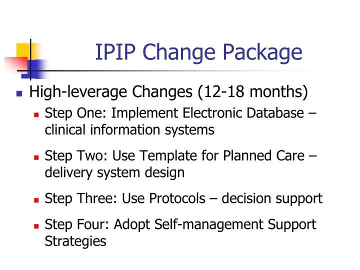 IPIP Change Package