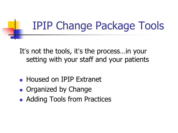 IPIP Change Package Tools