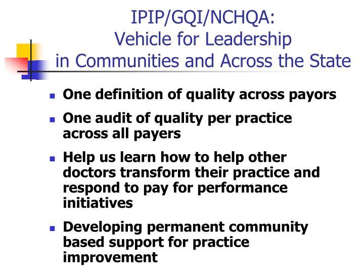 IPIP/GQI/NCHQA: