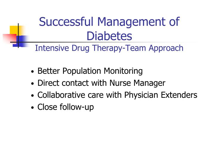 Successful Management of Diabetes