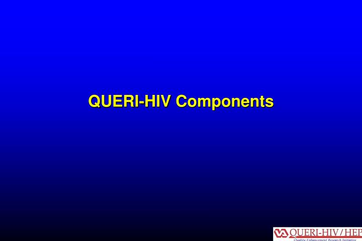 QUERI-HIV Components