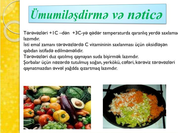 Ümumiləşdirmə və nəticə