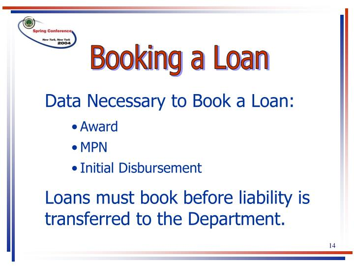 Booking a Loan